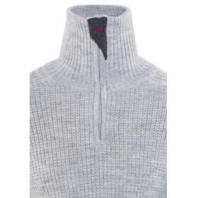 Ulvang Rav Sweater with Zip Unisex Grey Melange